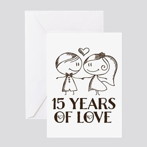 15th Wedding Anniversary.15th Anniversary Greeting Cards Cafepress