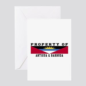 Property Of Antigua and Barbuda Greeting Card