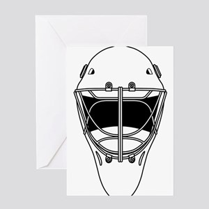 hockey helmet Greeting Cards