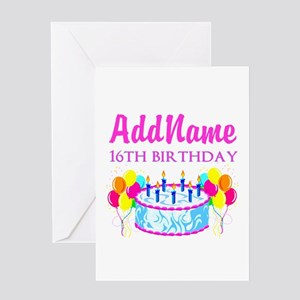Worlds Most Awesome 16 Year Old Greeting Card 399 16TH BIRTHDAY