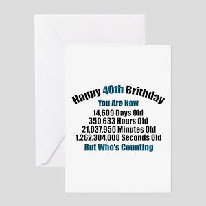 40th Birthday T Shirt Greeting Card