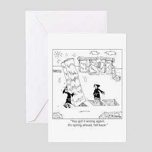 Springing Forward at Stonehenge Greeting Card