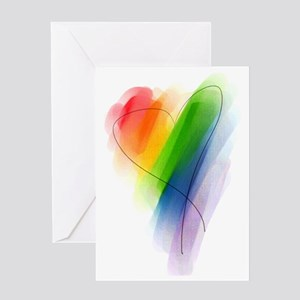 watercolor-rainbow-heart_tr Greeting Card