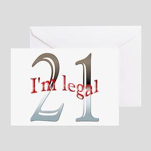 Im Legal 21st Birthday Greeting Card
