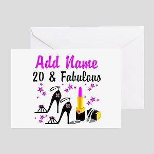 20 Year Old Birthday Gift Ideas Greeting Card 399 HAPPY 20TH BIRTHDAY
