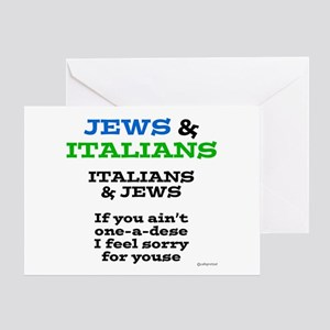 Jews And Italians Greeting Card