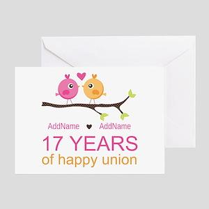 17th Wedding Anniversary Greeting Cards - CafePress