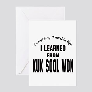 I learned from Kuk Sool Won Greeting Card