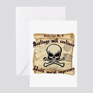 Pirates Law #8 Greeting Card