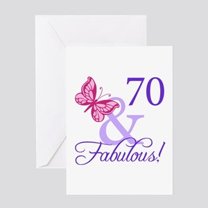 70 And Fabulous Greeting Card
