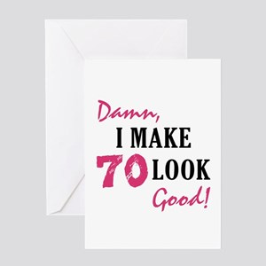 Hot 70th Birthday Greeting Card
