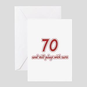 Car Lover 70th Birthday Greeting Card
