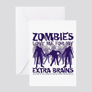 Zombies Love Me Greeting Card