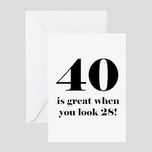40th Birthday Humor Greeting Card