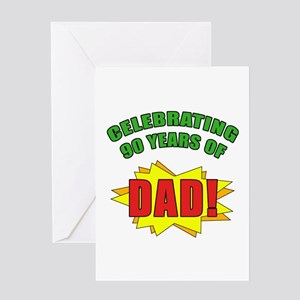 Celebrating Dads 90th Birthday Greeting Card