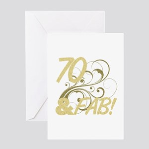 70 And Fabulous (Glitter) Greeting Card