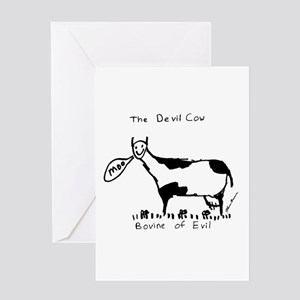 Devil Cow Greeting Card