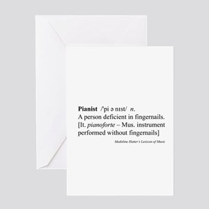 Humorous Pianist Definition Greeting Card