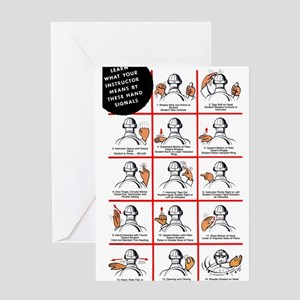 Student Pilot Hand Signals Greeting Cards (Package