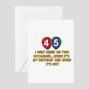 45 Year Old Birthday Designs Greeting Card
