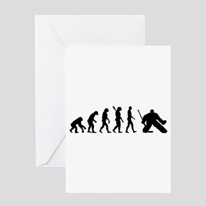 Evolution hockey goalie Greeting Card