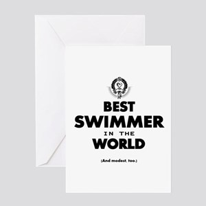 The Best in the World – Swimmer Greeting Cards