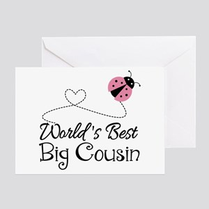 e38be0c5 World's Best Big Cousin Greeting Card