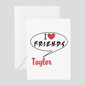 Personalize I heart Friends TV Greeting Cards