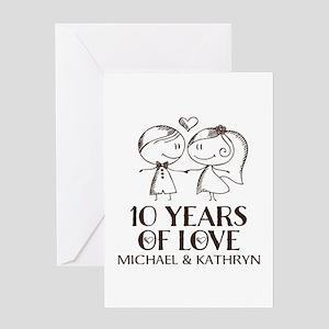 10 Year Wedding Anniversary.10 Year Anniversary Greeting Cards Cafepress