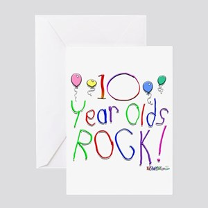 10 Year Olds Rock Greeting Card