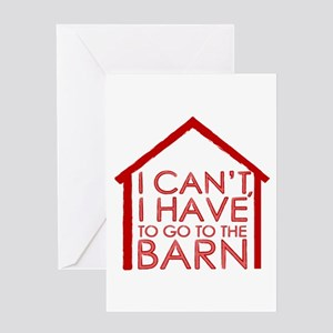 To The Barn Greeting Card