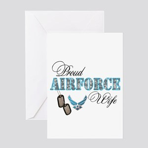 Proud Air Force Wife Greeting Card