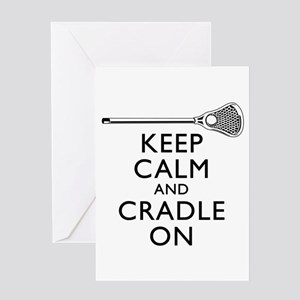 Keep Calm And Cradle On Greeting Card