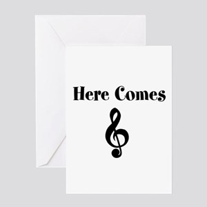 Here Comes Treble Greeting Cards
