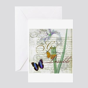 All things are possible Greeting Cards