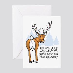 Reindeer Christmas Cards.Reindeer Poop Greeting Cards Cafepress