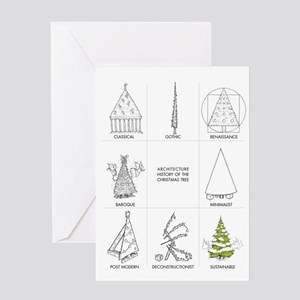 Architecture History of Christmas Tr Greeting Card