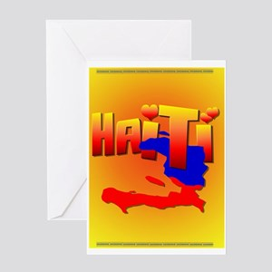 HAITI LOVE Greeting Card
