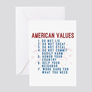 American Values Greeting Cards