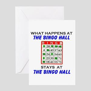 BINGO HALL Greeting Card