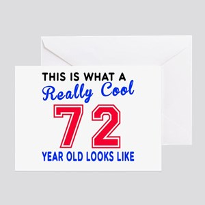 Really Cool 72 Birthday Greeting Card