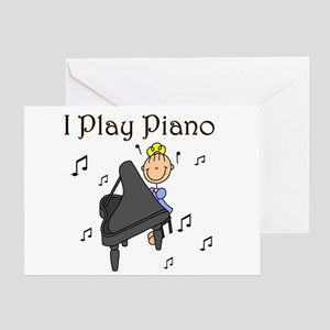 I Play Piano Greeting Card