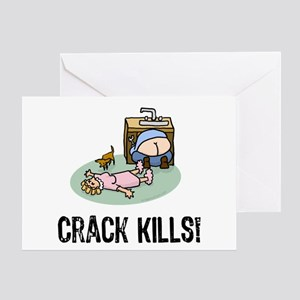 Butt Crack Greeting Cards Cafepress