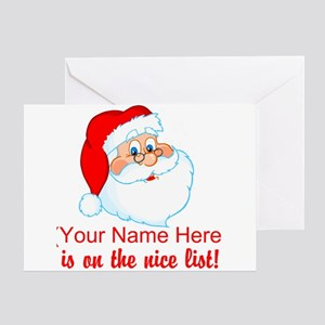 Personalized Nice List Greeting Card