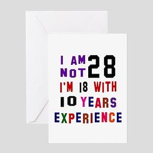 28 Birthday Designs Greeting Card