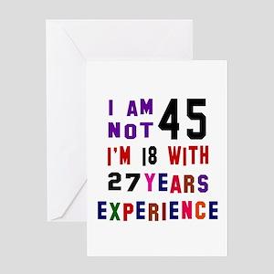 45 Birthday Designs Greeting Card