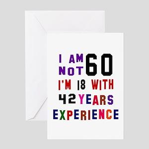 60 Birthday Designs Greeting Card