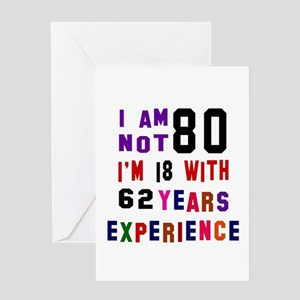 80 Birthday Designs Greeting Card