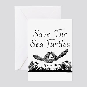 Loons And Turtles And Cranes Oh My >> Save The Turtles Greeting Cards Cafepress