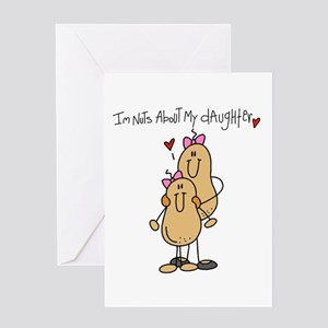 Mom-Nuts About My Daughter Greeting Card
